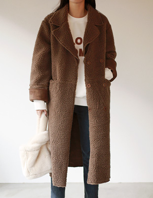 Brown fleece coat
