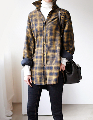Camille Check Long Shirt