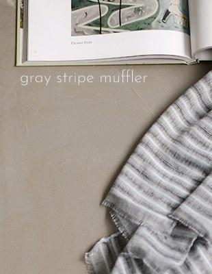 GREY stripe muffler