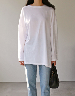 layered boxy long t