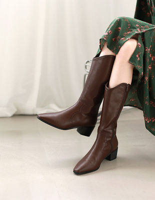 Western middle boots