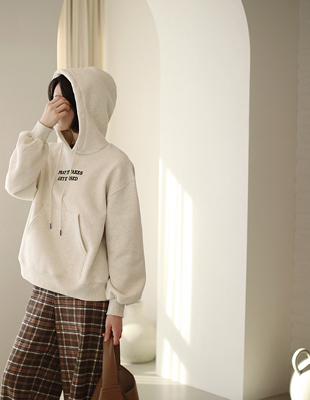 PRAY sheep brushed hoodie