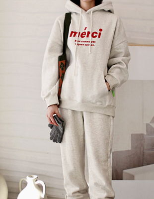 Sheep brushed merci long hoodie