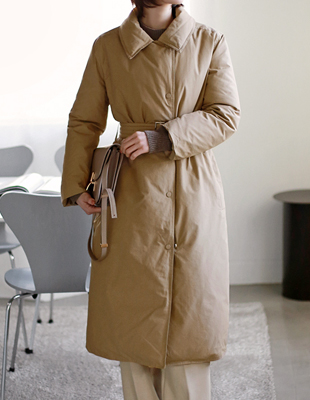 Duckdown Belt Long coat