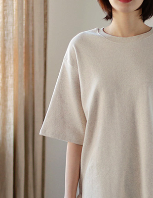 Split napping Long tee