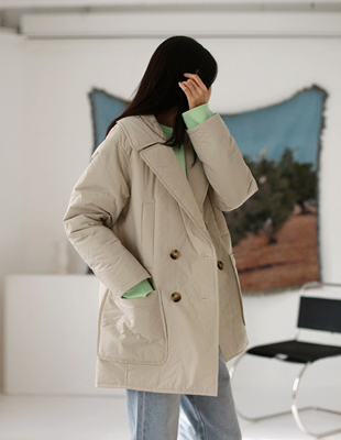 [New in spring season] Padding double coat