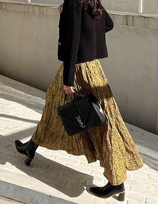 Leopard Wrinkle Rong skirt