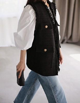 Stella tweed vest