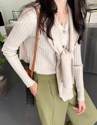 Moment Corrugated Knit Cardigan