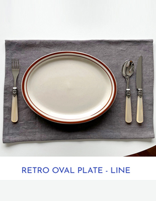 [5% discount until 2nd am 11] Retro oval plate-line