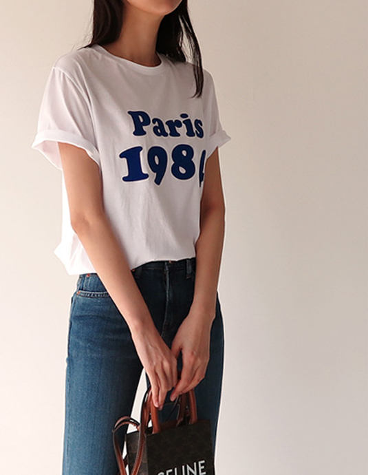 [5% discount until 11 am on the 19th] Paris 1984 Tee