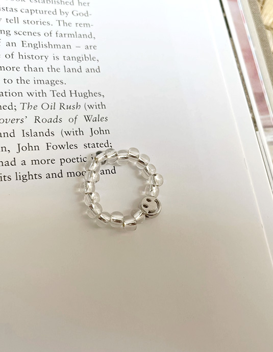 Clear Ball Kitsch Ring