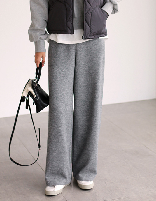 Knit Clear Wide Pants