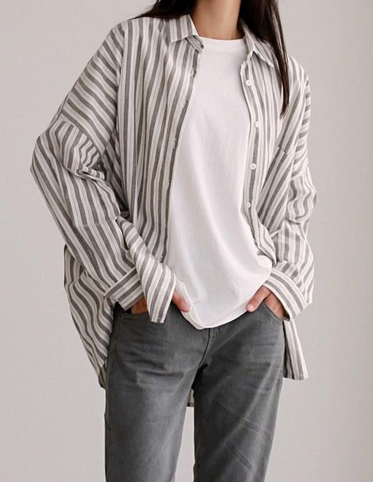 Roy Stripe Long Shirt