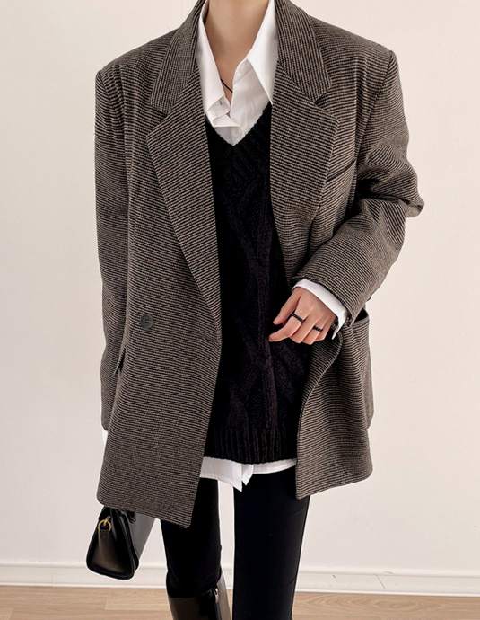 [Same-day shipping] [5% discount until 11 am on the 25th] Alexa double wool jacket