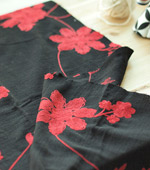 Significant - double gauze) flower embroidery four kinds (Black Red)