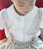 Washing40 can gauze) mini flower embroidery 5color (White)