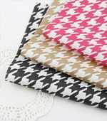Cotton Blended) hounds tooth check three kinds