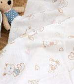 Triple gauze) Cute Bunny Bag Ivory