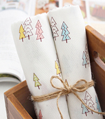Handkerchiefs cut paper) mini trees (2 species)