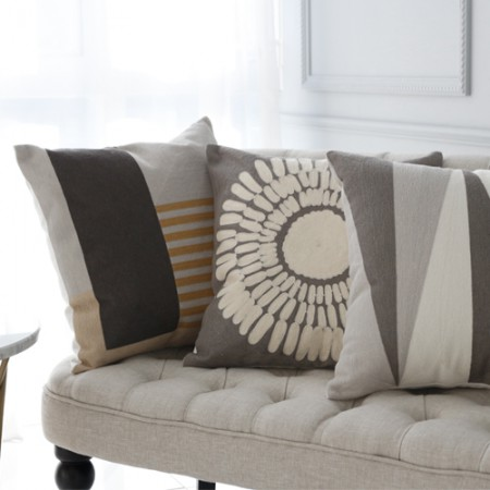 Finished products) embroidered cushion covers (3 types)