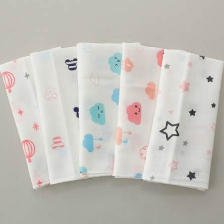 Finished products) embossed gauze handkerchief (5 types) NO.3