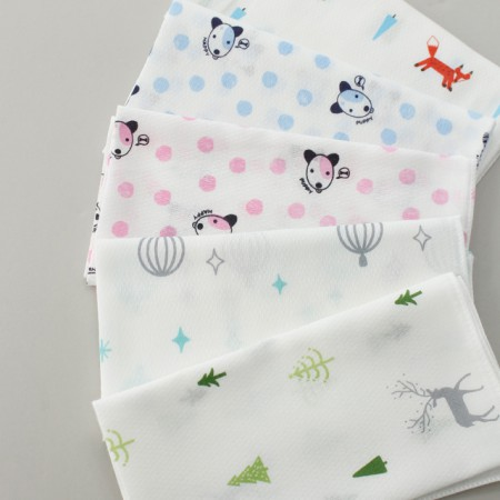 Finished products) embossed gauze handkerchief (5 types) NO.5