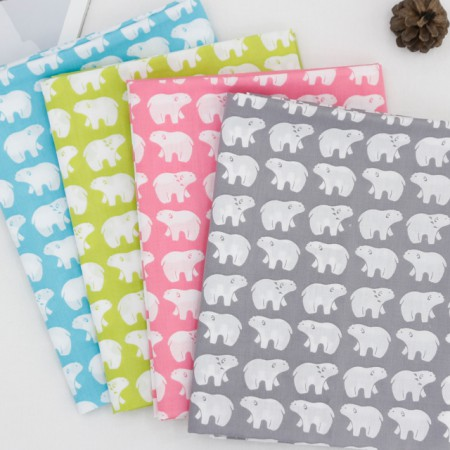 Cotton blend fabric) Polar Bears (4 species)