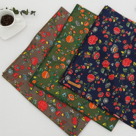Finished product) Cotton 60 handkerchief (three kinds) NO.1