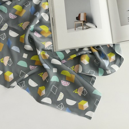 Poly Silk Fabric Silk Supreme Wide 001 Half Half
