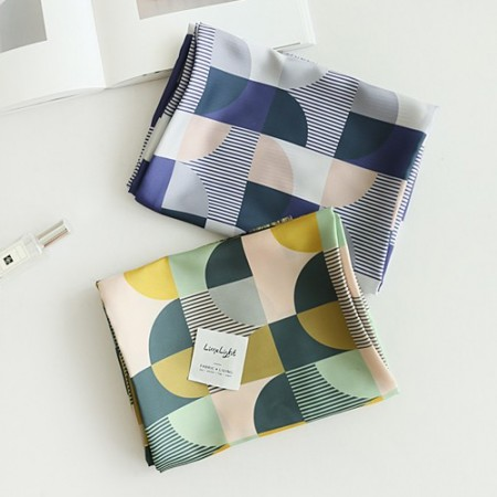 Poly Silk Fabric Silk Supreme Large Urban Simple 2 types