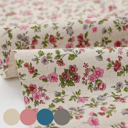 Wide 11 water linen fabric vintage pink 4 types