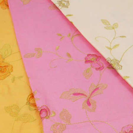 Wide cotton embroidery flowers