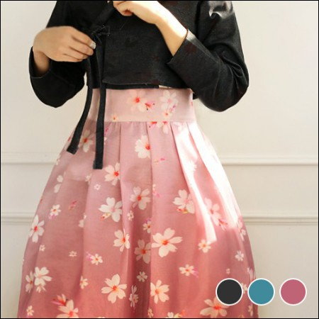 Hanbok Fabric Flower Road Poly Hanbok Cloth Cheollick Flower 3 types