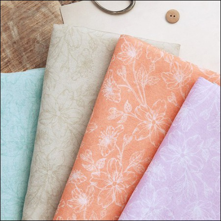 Hanbok Fabric Doctor Poly Hanbok Cloth Cheollick Flower 4 types