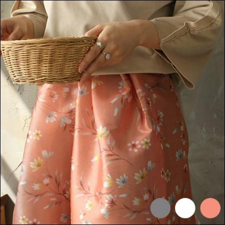 Hanbok Fabric Yenim Poly Hanbok Cloth Cheolrick Flower Floral Pattern 3 Types