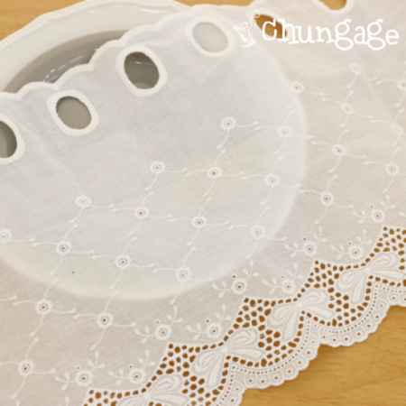 Bong Barans cotton lace R023 bowknot White