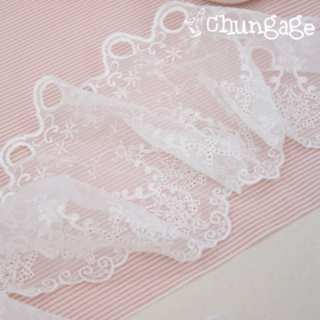 Bong Baranch Mesh Lace R024 Morning Sun White