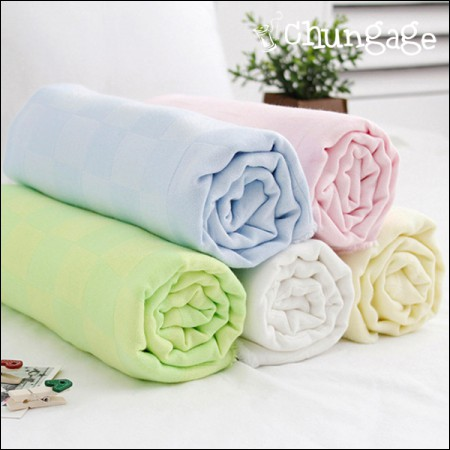 Bamboo double gauze double gauze) Check check (5 kinds)