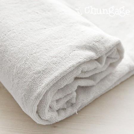 100% bamboo primium double-sided towel (white child)