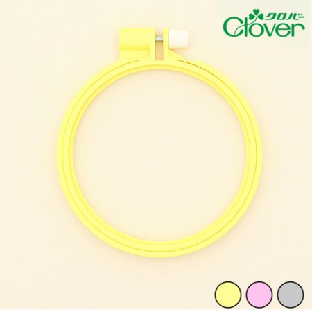 French Embroidery Clover Plastic Color Embroidery Frame 10cm 3 Types