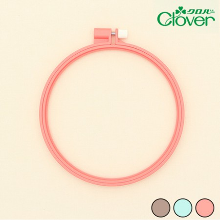 French Embroidery Clover Plastic Color Embroidery Frame 15cm 3 Types