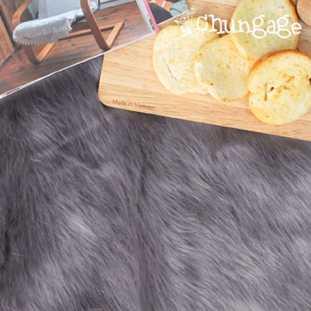 High-grade artificialFur artificial Fur Fur gray system 1/2Hermp