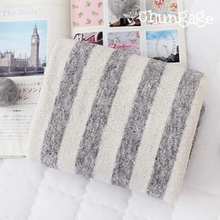 Extremely -Knit) Stretch Knit Feeling Stripe Knit