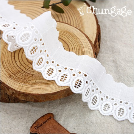 Cotton Lace Cotton 080 Drop White