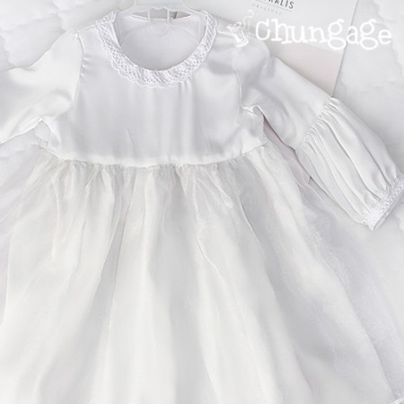 Drastically shatin water silk white dress