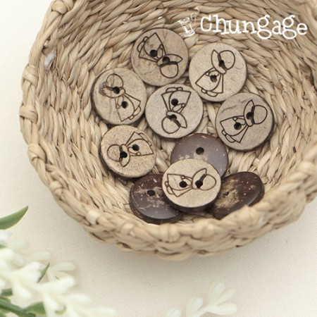 Wooden button-shaped round wooden buttons 12mm