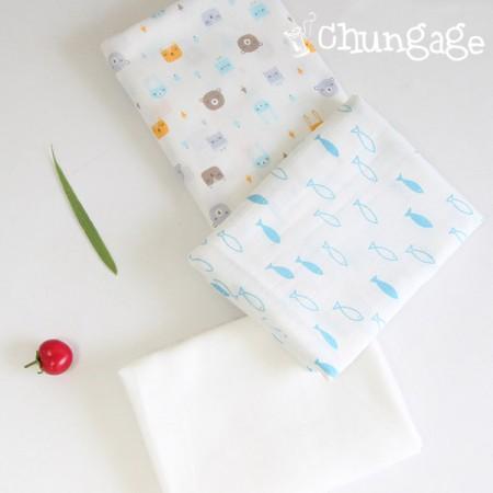 Fluorescent embossed Gauze handkerchief cut paper marimo 3 kinds