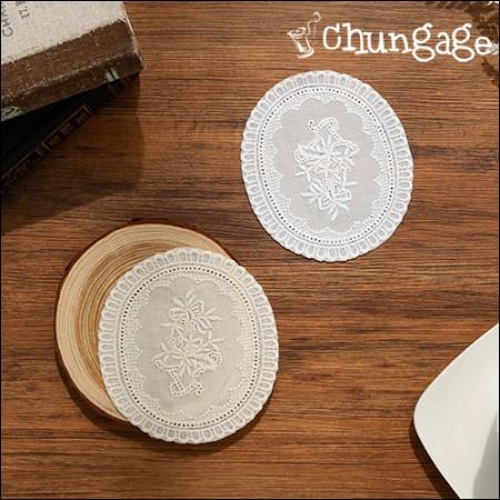 Motif lace flower basket cotton motif (2 species)