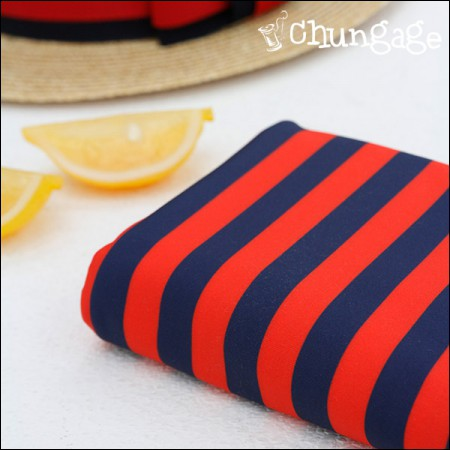 Wide Summer Swimsuit Fabric Stripe